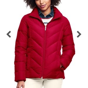 ❤️ LANDS' END RED DOWN FILLED JACKET